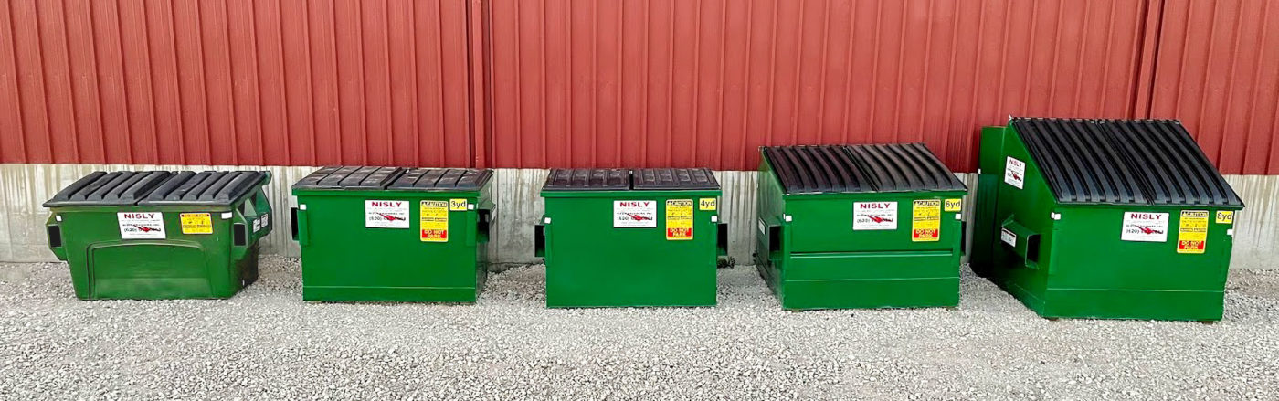 commercial recycling service container