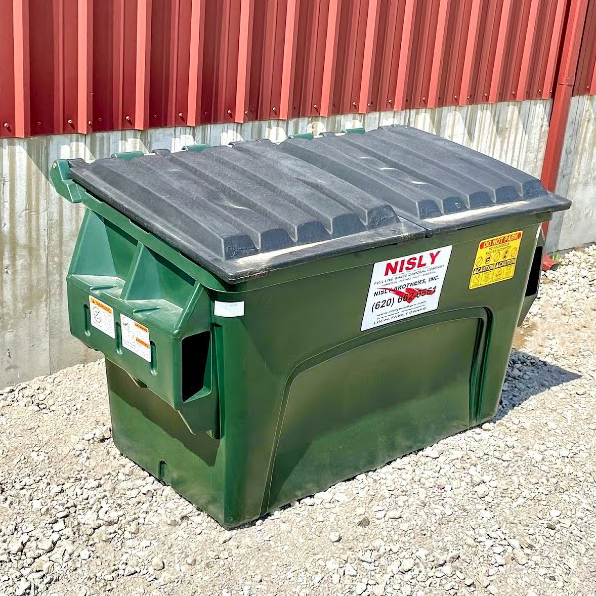 2 yard container for commercial trash service in