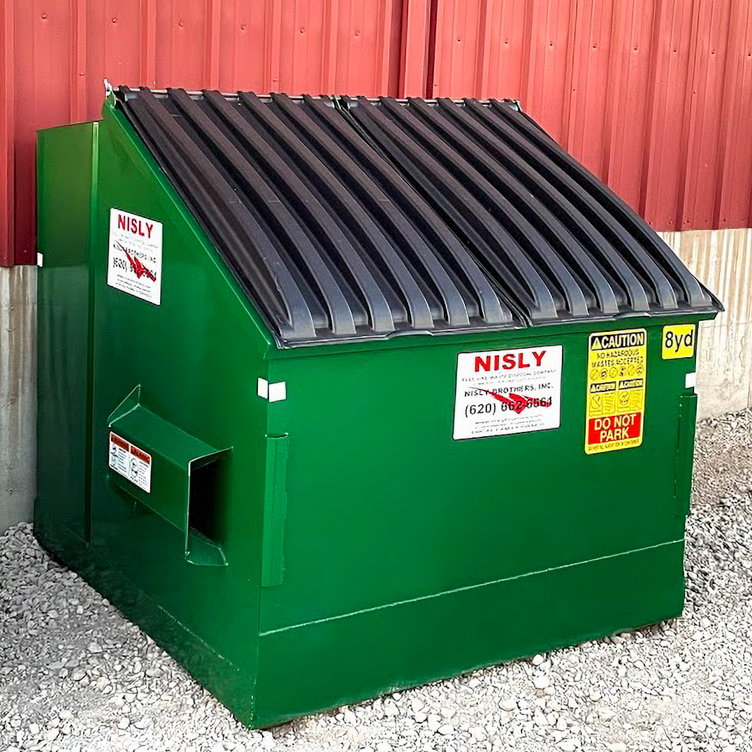 8 yard container commercial trash services near hutchinson kansas