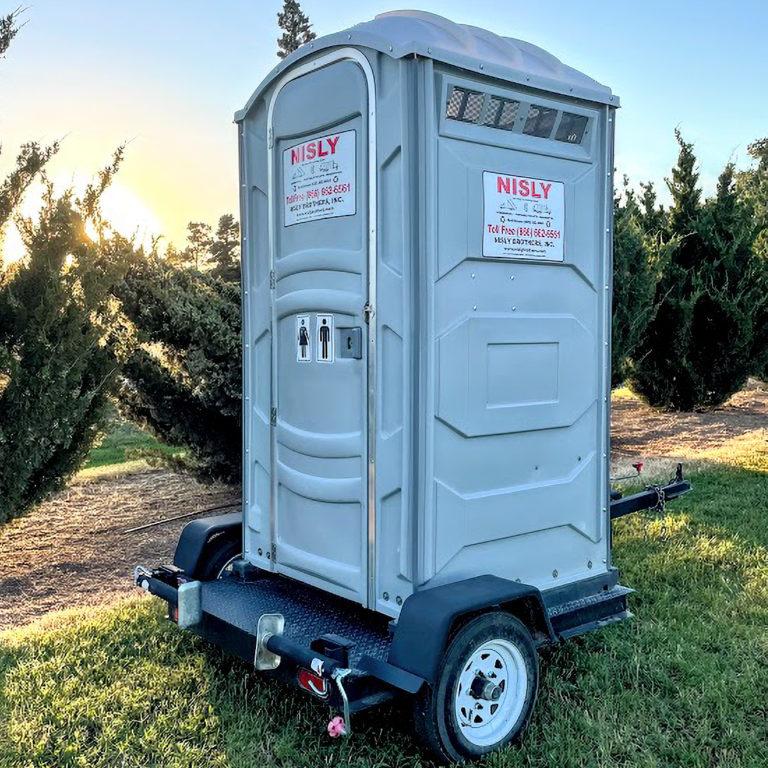 classic u tow cheap job site portable toilet solution in kansas