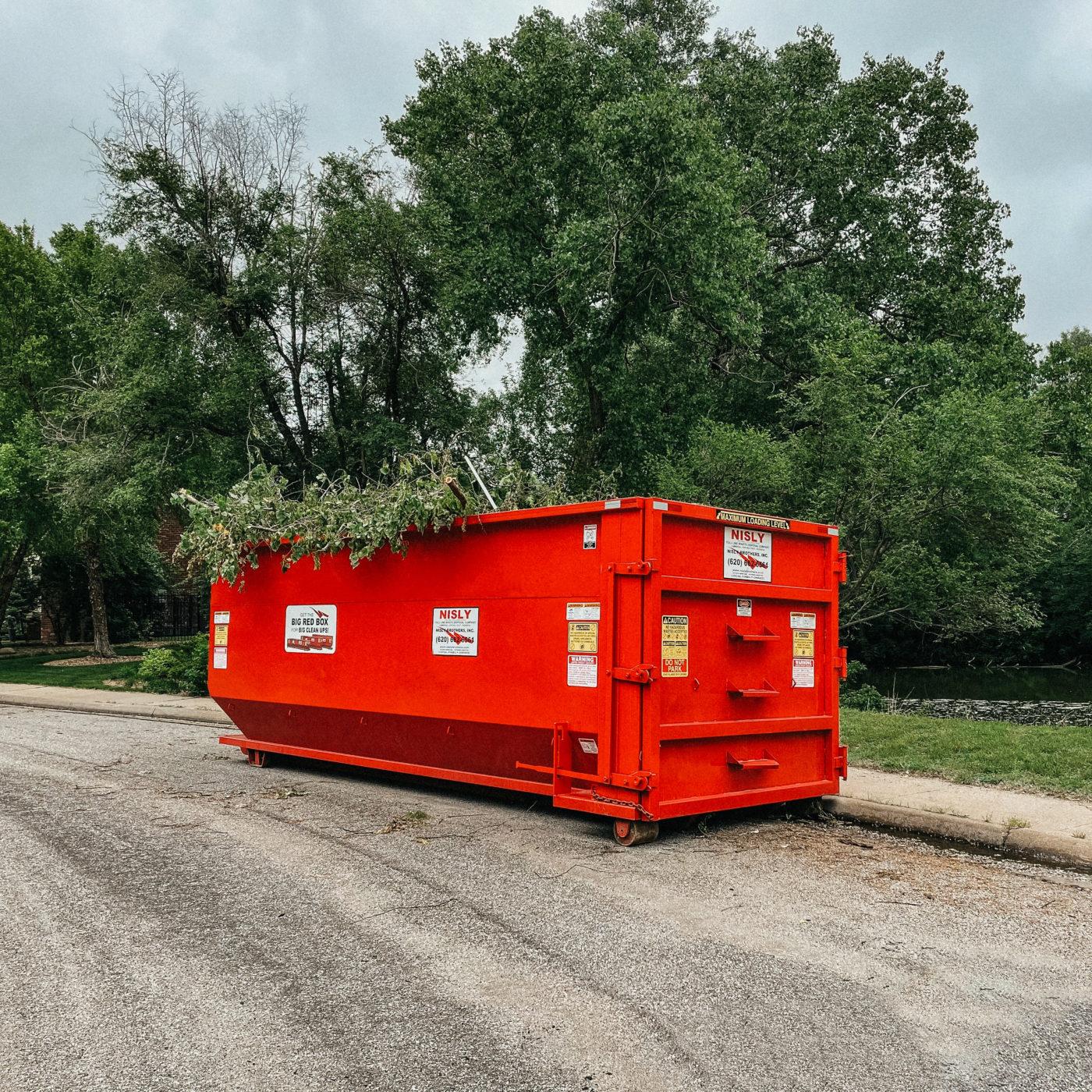 dumpster rental in kansas for job site