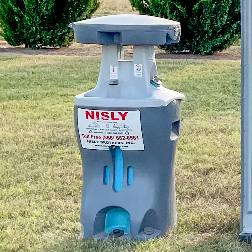 optional handwashing unit availalbe for long term commercial porta potty service in central kansas