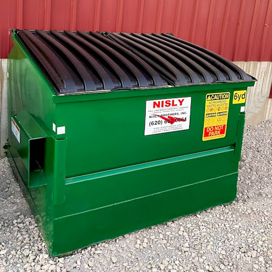 6 yard small front load temporary dumpster for rent near hutchinson kansas perfect for small residential projects