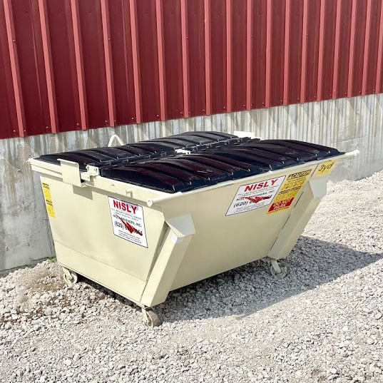 3 yard container for rural residential trash collection in stafford county kansas