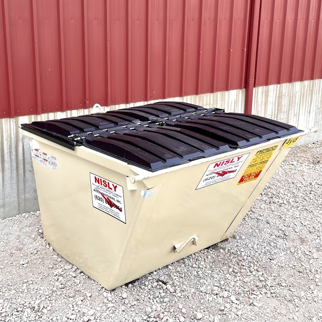 4 yard container for rural residential trash collection in central kansas