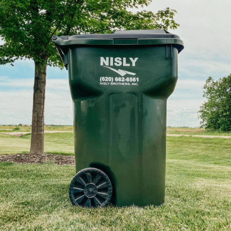 95 gallon cart for residential trash pickup in central kansas near hutchinson