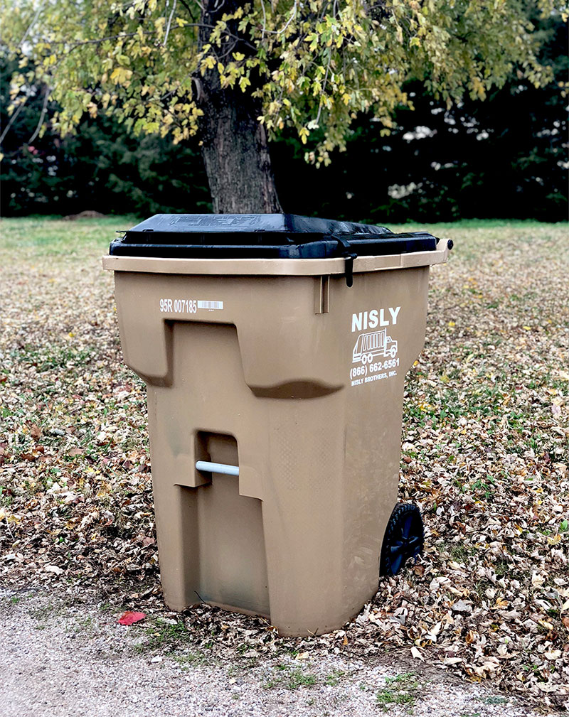 america recycles day 2018 recycling cart from nisly brothers
