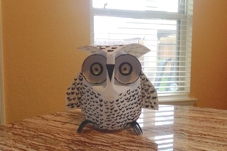 childrens recycling crafts milk jug owl