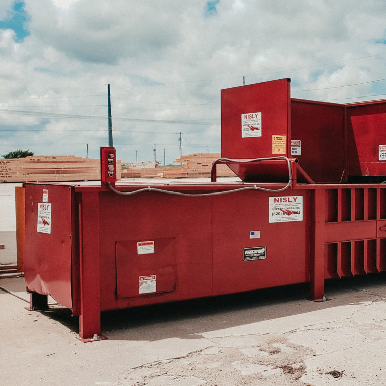 commercial trash compactor for commercial trash services in central kansas