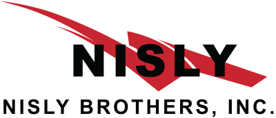 nisly brothers trash service logo with black text